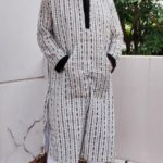 Black and White Handloom Kurta